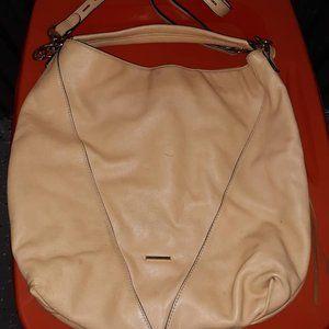 REBECCA MINKOFF Moto Tan Leather Shoulder Handbag